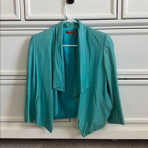 Alice & Olivia Turquoise leather Jacket xsm